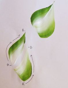 painting leaves with one stroke