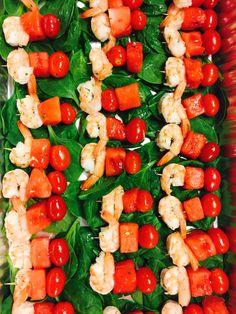 Fresh Grape Tomato, Watermelon & Shrimp Kabob