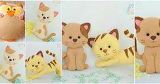 4 Moldes para hacer muñecos de fieltro rellenos con hule espuma Relleno, Making Out, Pikachu, Felt, Teddy Bear, Character, Animals, Blog, Ideas