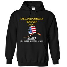 LAKE AND PENINSULA BOROUGH It's Where My Story Begins T-Shirts, Hoodies. BUY IT NOW ==► https://www.sunfrog.com/States/LAKE-AND-PENINSULA-BOROUGH--Its-Where-My-Story-Begins-cpivr-Black-13677501-Hoodie.html?id=41382