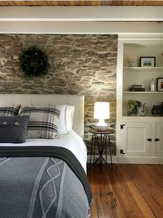 Do you want to make your house looks more natural by using the stone wall along the room? Here in this article we provide 15 stone wall interior designs for you who always want to decorate a natural home. Minimalist House Design, Minimalist Home, Stone Interior, Interior Design, Interior Ideas, Stone House Revival, Stone Accent Walls, Stone Cottages, Stone Houses