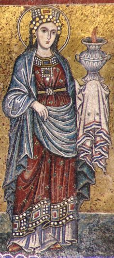 Rom, Santa Maria in Trastevere, Fassade, Mosaik aus dem 13. Jh. (Facade, 13th century mosaic)9