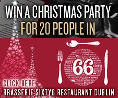Due to the success of last years #Christmas #competition. we have decided to do it again this year! So, visit: http://www.brasseriesixty6.com/corporate_christmas/ where you can win a #Christmasparty in #Dublin for up to 20 people! In #BrasserieSixty6 #restaurantindublin #christmas #party #festive #xmasparty #xmas #ireland #christmascompetition #winning #win #dublinrestaurants #restaurantsindublin