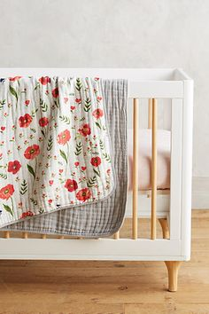 Adorable baby floral baby quilt