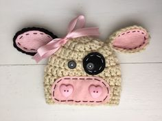 A personal favorite from my Etsy shop https://www.etsy.com/listing/251332419/cow-hat-baby-girl-photo-prop-barnyard