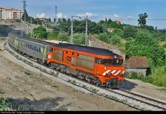 CP 1943 CP Portugal Alsthom CP 1930 series at Covilhã, Portugal by J.Costa Lopes The Other Side, Train Travel, Locomotive, Costa, Explore, Vehicles, Places, Paths, Iron