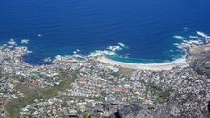 The Atlantic Ocean coast near Cape Town taken from The Table Mountains (via thecoconutrace.com)