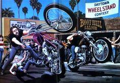 ... Mann Harley, Davidson Art, Dave Mann, Mann Wheelstand, David Mann Art