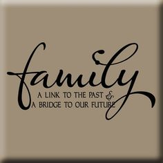 Family Reunion Themes | LINK TO OUR PAST WALL DECAL