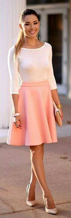 Outfit chic con falda •