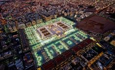 Beautiful aerial view of Masjid al Nabawi Al Masjid An Nabawi, Masjid Al Haram, Black Magic For Love, Imam Hussain Wallpapers, Mecca Wallpaper, Beautiful Mosques, Madina, Islamic Pictures, Aerial View