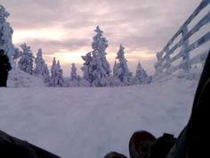 Young fellows taking quite a ride on the Saariselkä hill! | Finland's longest toboggan ride in Saariselkä