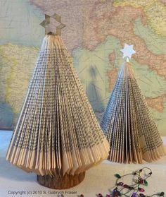 Christmas tree out of a folded book
