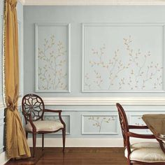 Photo: Deborah Whitlaw Llewellyn | thisoldhouse.com | from 15 Decorative Paint Ideas | delicate twig design