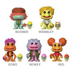 Fraggle Rock Vinyl Figures i have died and gone to heaven, these were my childhood, jim henson was a legend, these are in stock only click image to view or purchase from thinkgeek just amazing! Funko Pop Figures, Vinyl Figures, Best 90s Cartoons, Fraggle Rock, Used Video Games, The Muppet Show, Pop Toys, 90s Childhood, Jim Henson