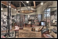 I like the clean cases and natural feel to this exhibit.    Harbor History Museum Exhibits by Michael D Martin, via Flickr