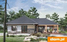 DOM.PL™ - Projekt domu AN TYMOTEUSZ G2 CE - DOM AO10-56 - gotowy koszt budowy Home Fashion, Cabin, How To Plan, House Styles, Home Decor, Decoration Home, Room Decor, Cabins, Cottage