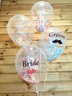 コンフェッティバルーン4点セット|その他アート|Petit Rire|ハンドメイド通販・販売のCreema Bubble Balloons, Bubbles, Ballon Decorations, Personalized Balloons, Wedding Balloons, Valentines Diy, Wedding Photos, Wedding Ideas, Confetti