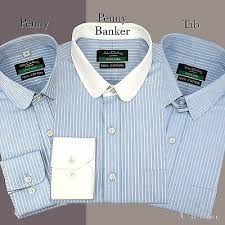 Penny Tab collar Cotton Shirt Men Sky Blue stripes French Cuff Peaky Blinders | eBay Round Collar Shirt, Collar Shirts, Gents Clothes, Tie And Pocket Square, Pocket Squares, Cotton Shirts For Men, Contrast Collar, Formal Shirts, Peaky Blinders