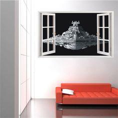 VISTA PARA AS ESTRELAS   colocaria um adesivo assim na sua sala de estar? #TecnisaDecor #StarWars #StarWarsDay #Inspire-se #Tecnisa Foto: AliExpress
