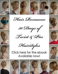 Fun twist ideas for hair! I think this will be the summer of twists, until this mop finally grows out... :0/