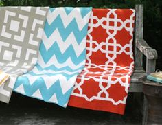 I pinned this from the Happy Habitat - Chevron, Lattice & Bold Patterned Throws event at Joss & Main! It's true-these fabrics do make me happy!