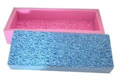 Large Rectangle Rose Shaped 3D Block Silicone Mold