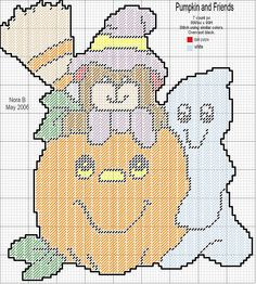 PUMPKIN AND FRIENDS by NORA B.*NB PcDesign -- WALL HANGING