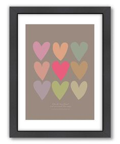 Heart Print - would be easy to do with fabric and iron on pellon or scrapbooking papers.