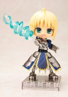 This Cu-Poche Fate/stay night figure of Saber is both extremely cute and highly poseable!