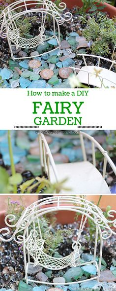 How to make an easy DIY fairy garden! Includes video and links to where to buy supplies!