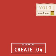 YOLO Colorhouse CREATE .04:  Mandarin red.  Perfect for dining rooms.  Gets the party started. $35.95