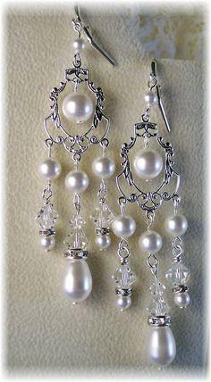 New Swarovski Crystal/White Pearl by HisJewelsCreations on Etsy, $48.00