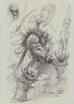 ArtStation - Galmott gathers the souls of the dead to wage war against the enemies of the underworld., Bobby Rebholz