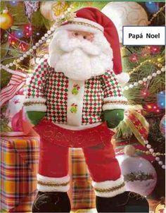Patrón Papa Noel navideño