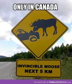Canadian road sign