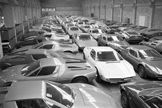 Located in Modena, Italy the Maserati workshop and a room full of 1974 Indy and Bora models