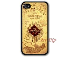 iPhone 4 Case iphone 4s case marauder's map iPhone 4 by ArtTrip from etsy