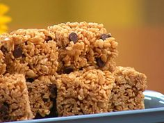 Alicia Silverstone's Crispy Peanut Butter Treats with Chocolate Chips - We make these every time we need a great vegan treat!
