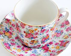 Chintz China Tea Cup and Saucer