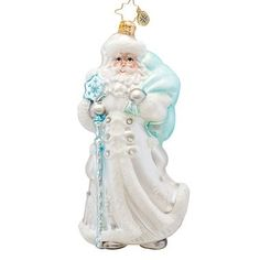 Christopher Radko Winter Breeze Santa Ornament