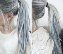 Inspiring image blue hair, dyed hair, hair, hair dye, long hair, silver hair, hair goals #2798750 by taraa - Resolution 500x459px - Find the image to your taste