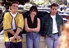 David Silver , Brenda Walsh and Brandon Walsh from Beverly Hills 90210