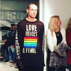 Il simbolismo di Grinko scende in passerella alla Milano fashion week #grinko #sergeigrinko #mfw #fw16 #fashion #moda #runway #katwalk