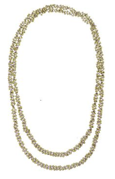 Bubble Bead W/Chain Necklace - White $29.95 #leethal #accessories #fashion