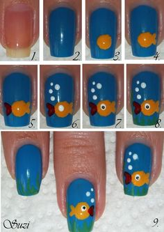 Cute Fish Design Mani | Sole Tutorials