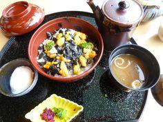 "Pranzo ""Ju-raku""(Ristorante),  ""Chofu"" (Città di castello), Shimonoseki Yamaguchi Japan, Ottobre"