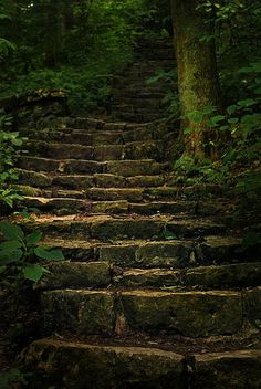 worn stone steps, yellow springs, ohio | exterior stairs + architectural details