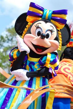 Minnie Mouse - shes so stylish! She has an outfit for everything! Maybe when I go I can get some tips! (WDW)