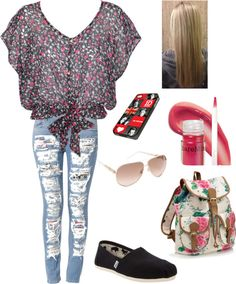 """first day of school"" by manahr ❤ liked on Polyvore"